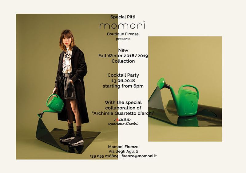 Momon special pitti cocktail party nyky for Momoni collezione 2016